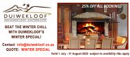 DUIWEKLOOF LODGE - WINTER SPECIAL